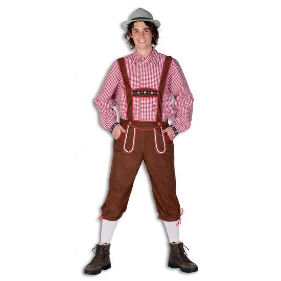 Oktoberfest bruine lederhose voor heren