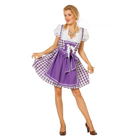 Oktoberfest kleding paars jurkje dames
