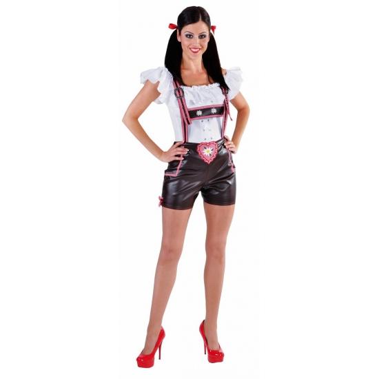 Oktoberfest luxe bruine hotpants voor dames