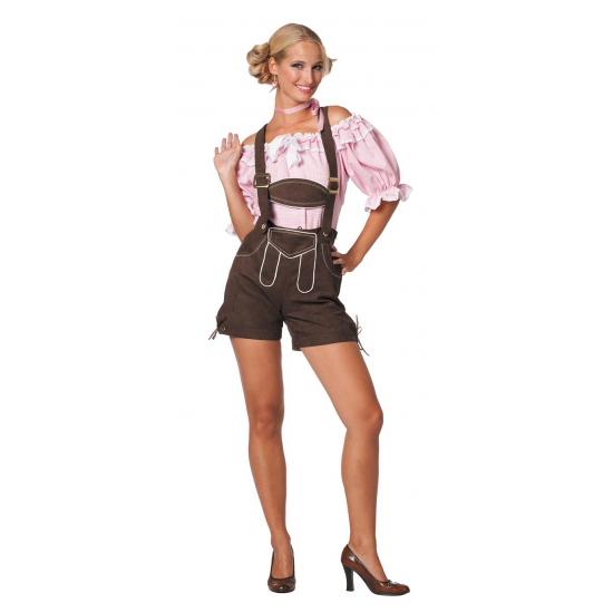 Oktoberfest Sexy lederhose donkerbruin