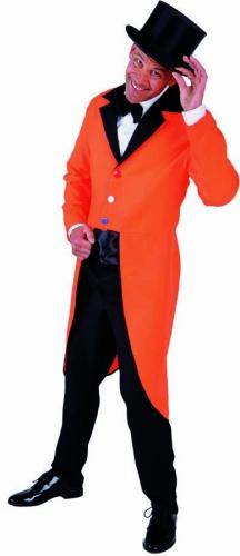 Oranje slipjas met zwarte kraag voor heren
