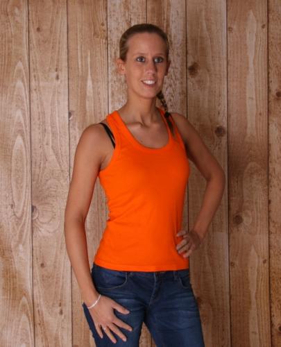 Oranje tanktops voor dames