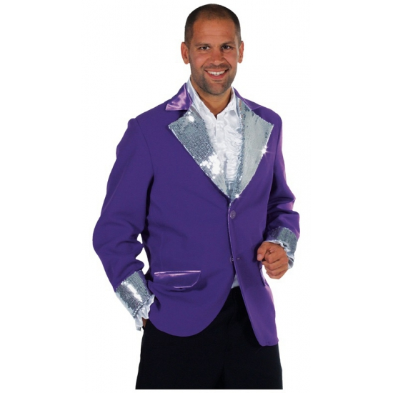 Paars/ zilver bling bling jas heren