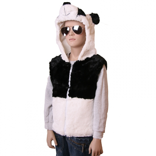 Panda bodywarmer voor kinderen