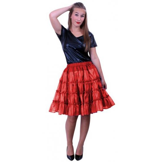 Petticoat 5 laags rood