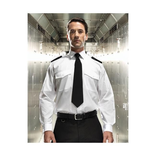 Piloten overhemd met lange mouwen