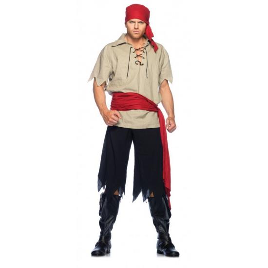 Piraat kostuum vier delig