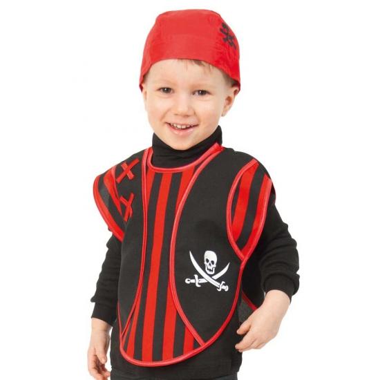 Piraten verkleed poncho voor peuters
