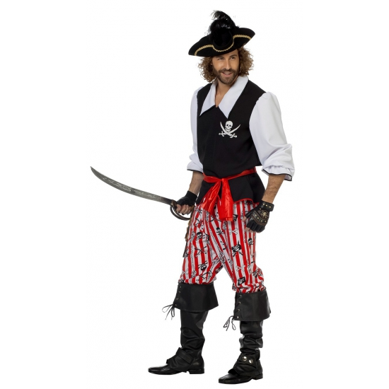 Piraten verkleedkleding voor heren 3 delig