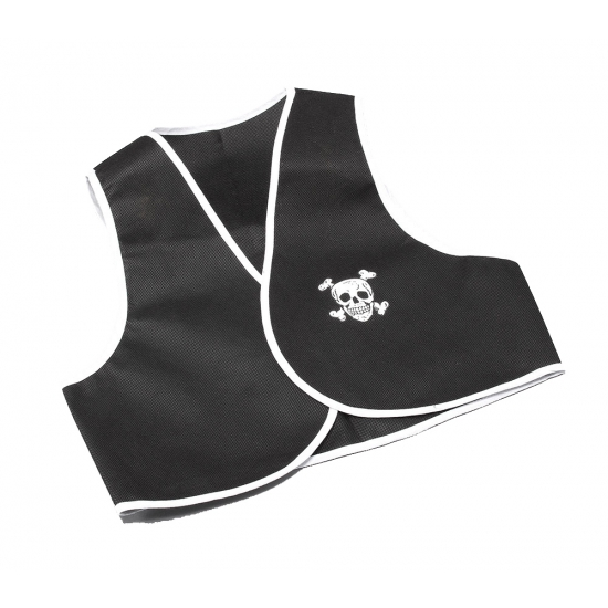 Piraten vestje mouwloos zwart