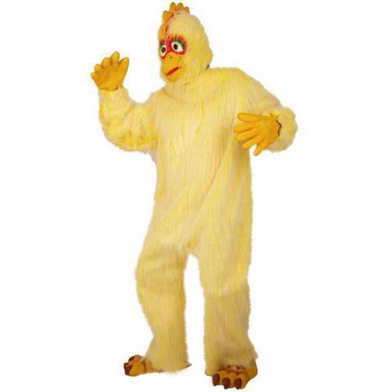 Pluche kip outfit voor volwassenen