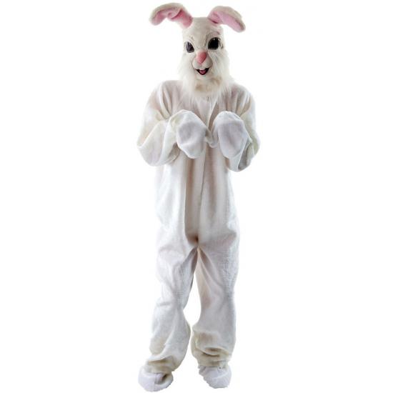 Pluche konijn kostuum voor volwassenen