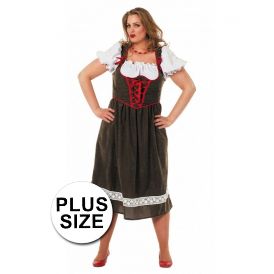 Plus size kostuum Tirolerjurk
