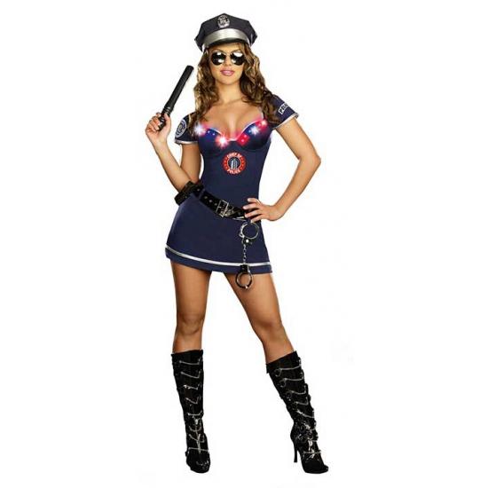 Politie verkleedkleding jurkje met licht