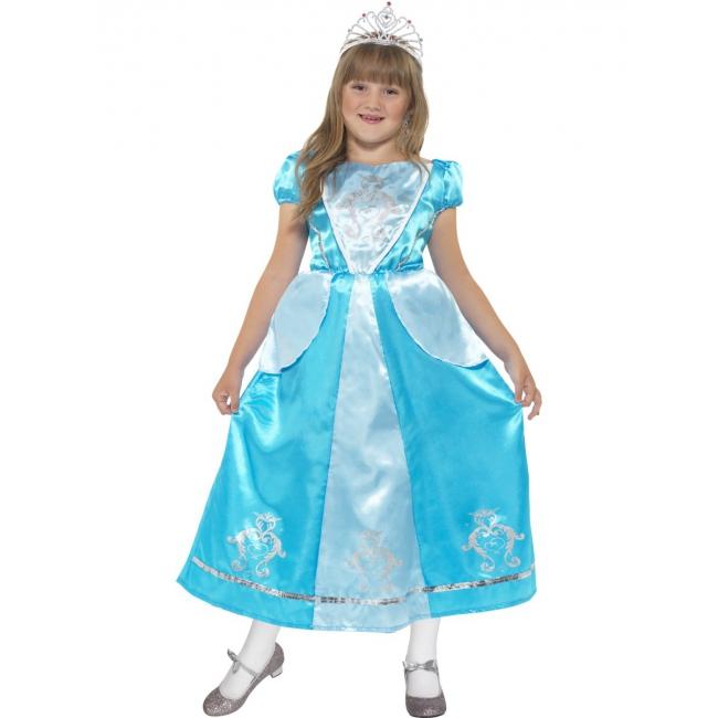 Prinses jurk blauw voor meisjes
