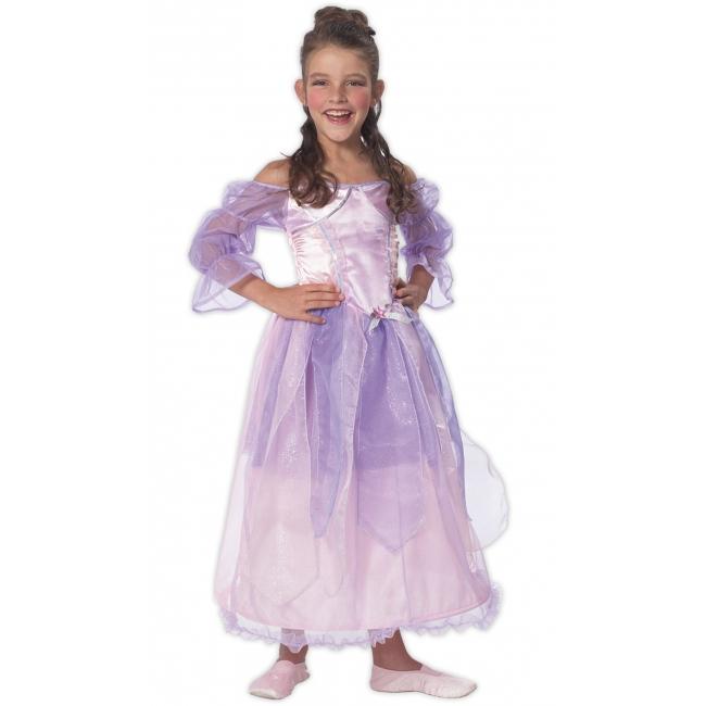 Prinsessen kostuum voor meisjes roze en paars