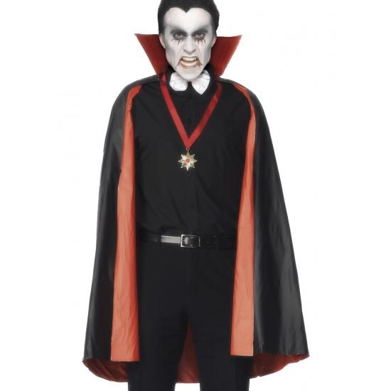 PVC vampier cape rood en zwart