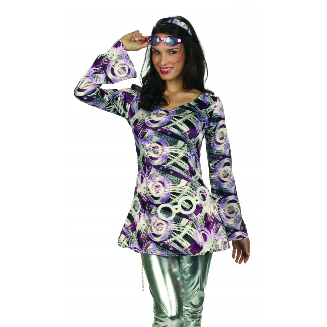 Retro disco jurk met haarband