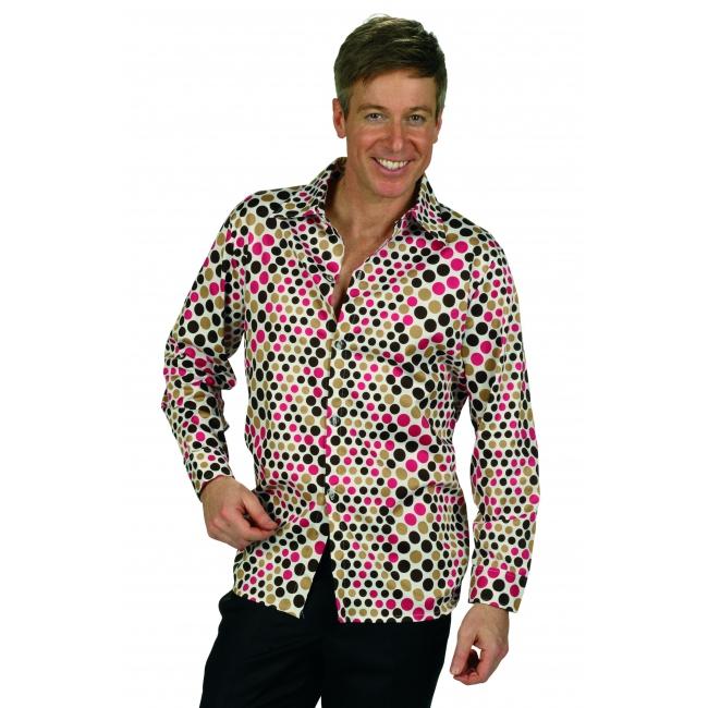 Retro disco overhemd voor heren