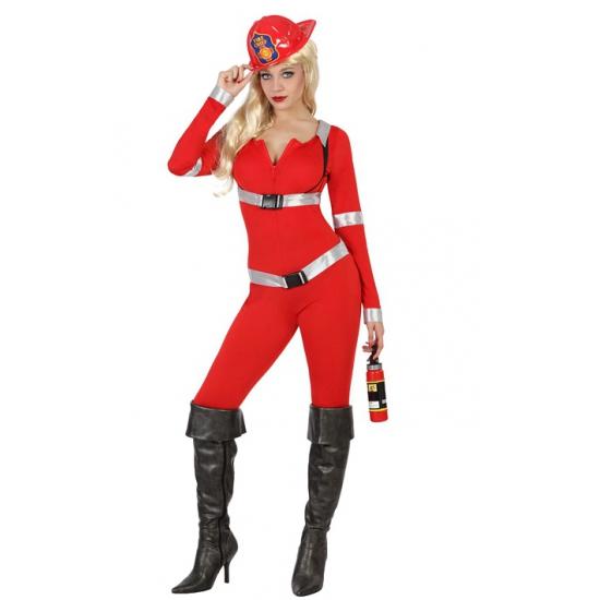 Rode brandweer jumpsuits