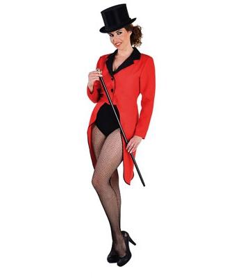 Rode circus slipjas voor dames