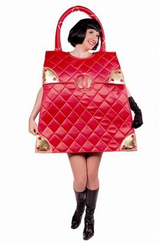Rode handtas kostuum voor dames