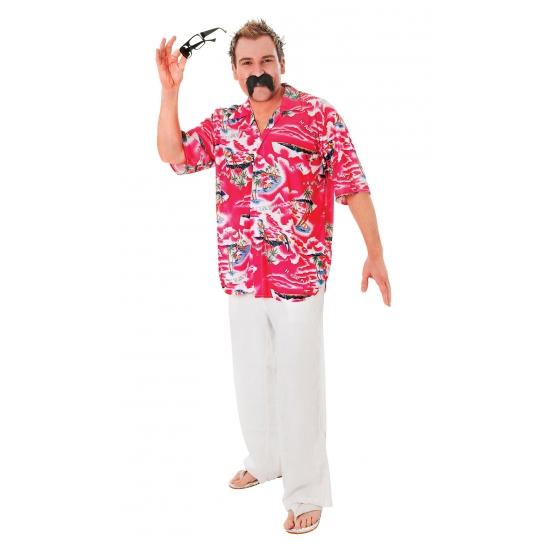 Rode Hawaii overhemden voor heren