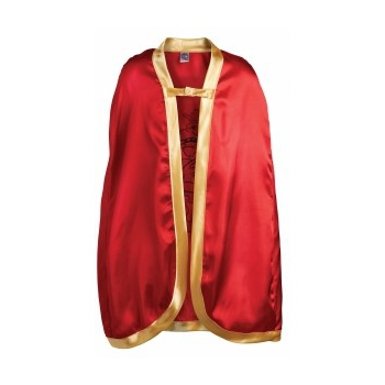 Rode kinder cape met leeuw op de rug