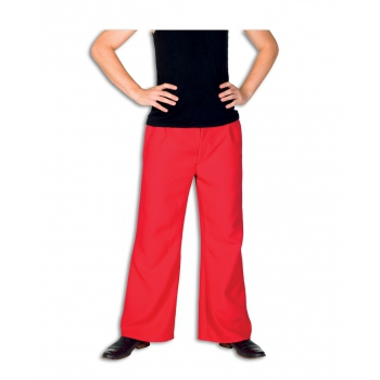 Rode lange broek voor heren