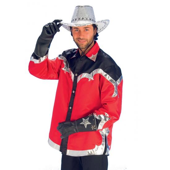 Rodeo overhemd voor heren rood