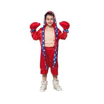 Rood bokser kostuum voor kinderen