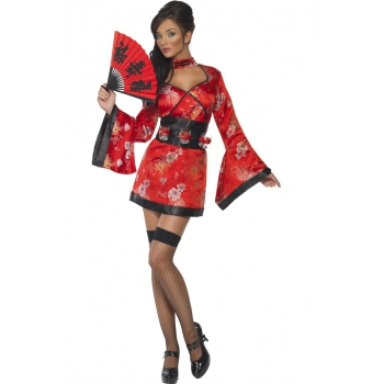Rood Japans jurkje met shotglas riem