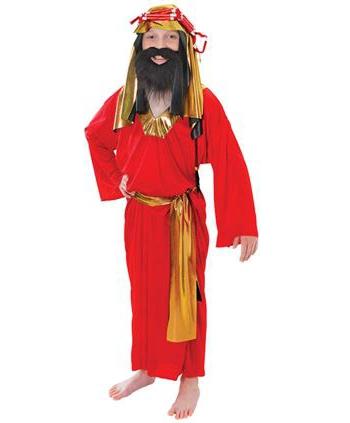 Rood kerst kostuum Drie Wijzen