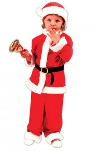 Rood kerstmannen pak voor kinderen