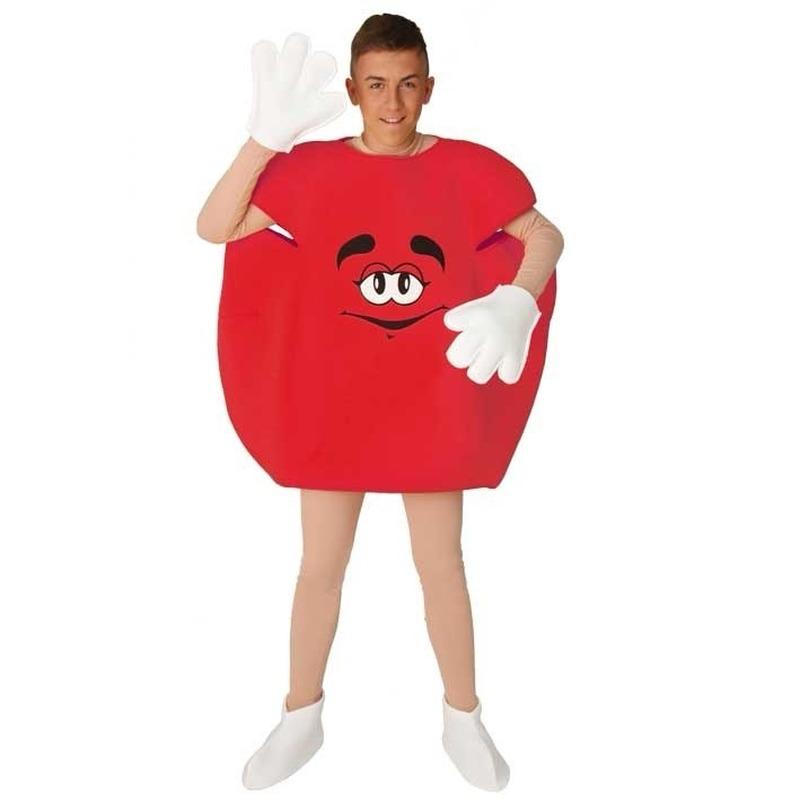 Rood M en M pak volwassenen