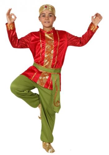 Rood met groene Oosterse kleding