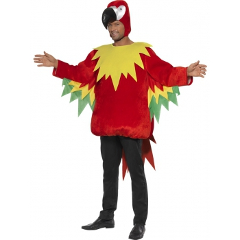 Rood papegaaien pak