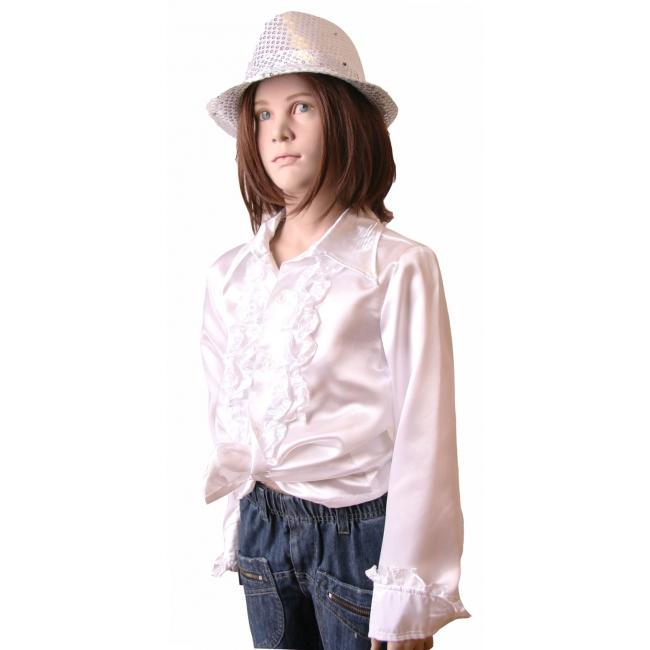 Rouches blouse  wit voor meisjes