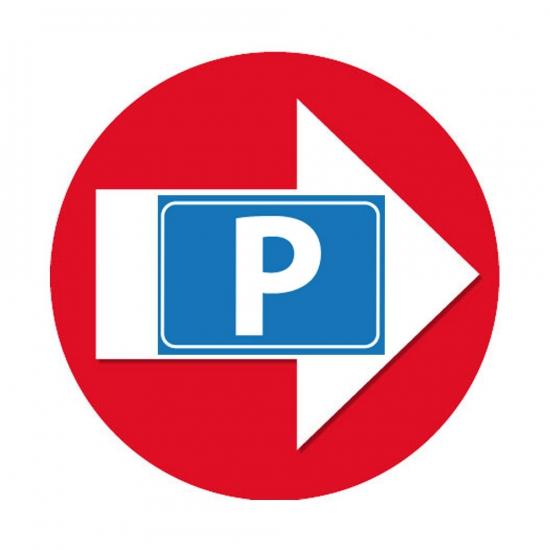 Route aanduiding stickers Parkeren rood