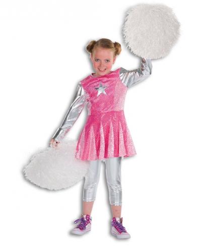 Roze cheerleader kostuum voor meisjes