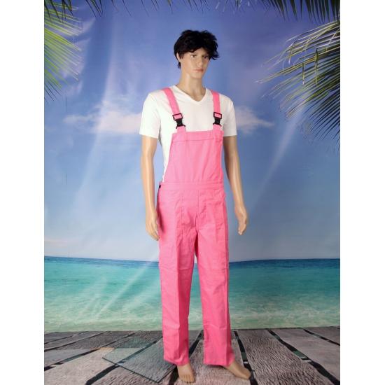 Roze dames en heren tuinbroek
