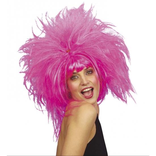 Roze feest damespruiken