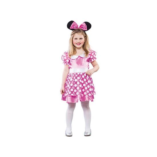 Roze gestippelde muis jurk