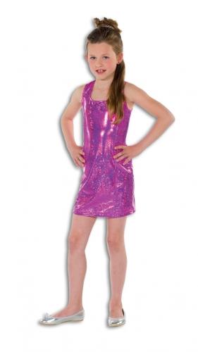 Roze glamour jurk voor meisjes