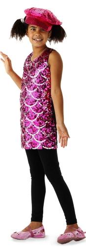 Roze glitter pailletten jurkje voor meisjes