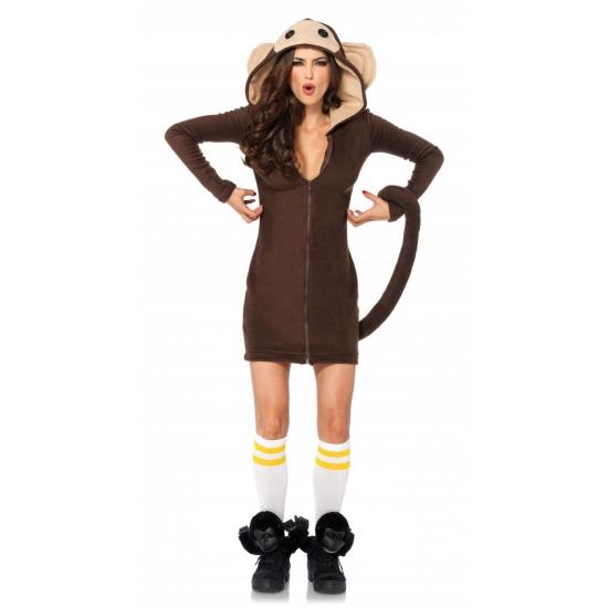 Sexy aap verkleed pakje voor dames