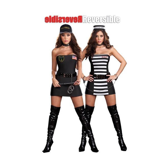 Sexy agente/boef kostuum 2 in 1