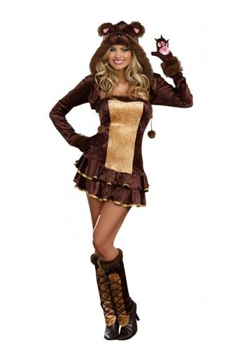 Sexy beren kostuum voor dames