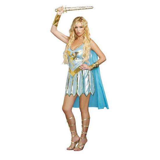 Sexy blauw Romeins krijger kostuum