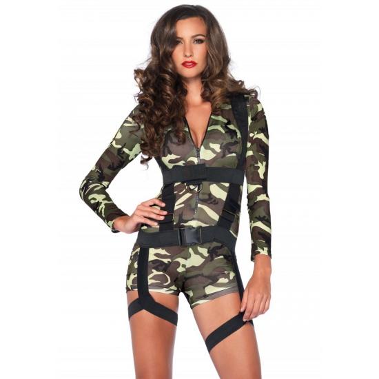 Sexy commando kostuum voor dames